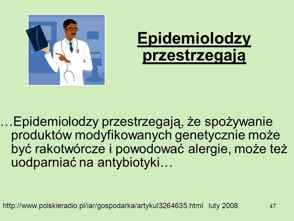 Epidemiolodzy przestrzegają