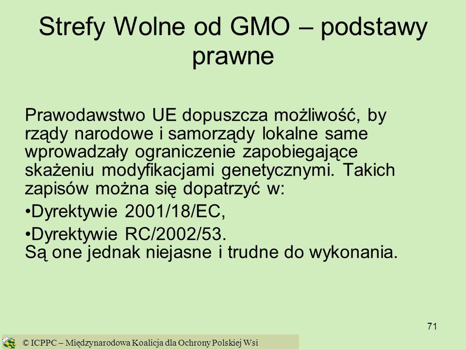 Strefy Wolne od GMO – podstawy prawne