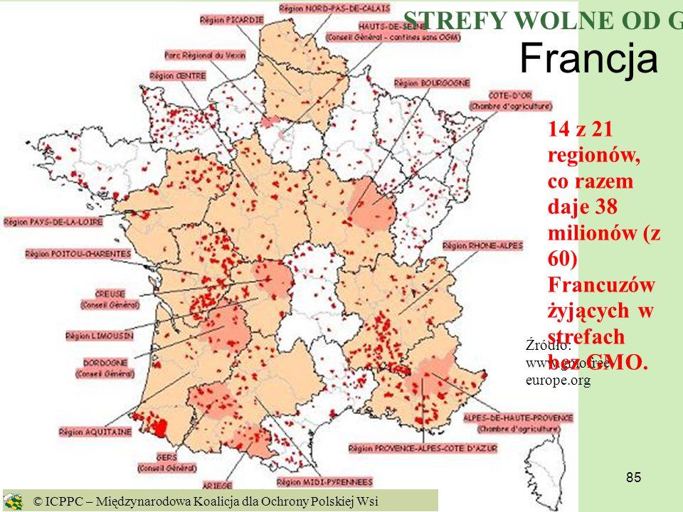 Francja STREFY WOLNE OD GMO