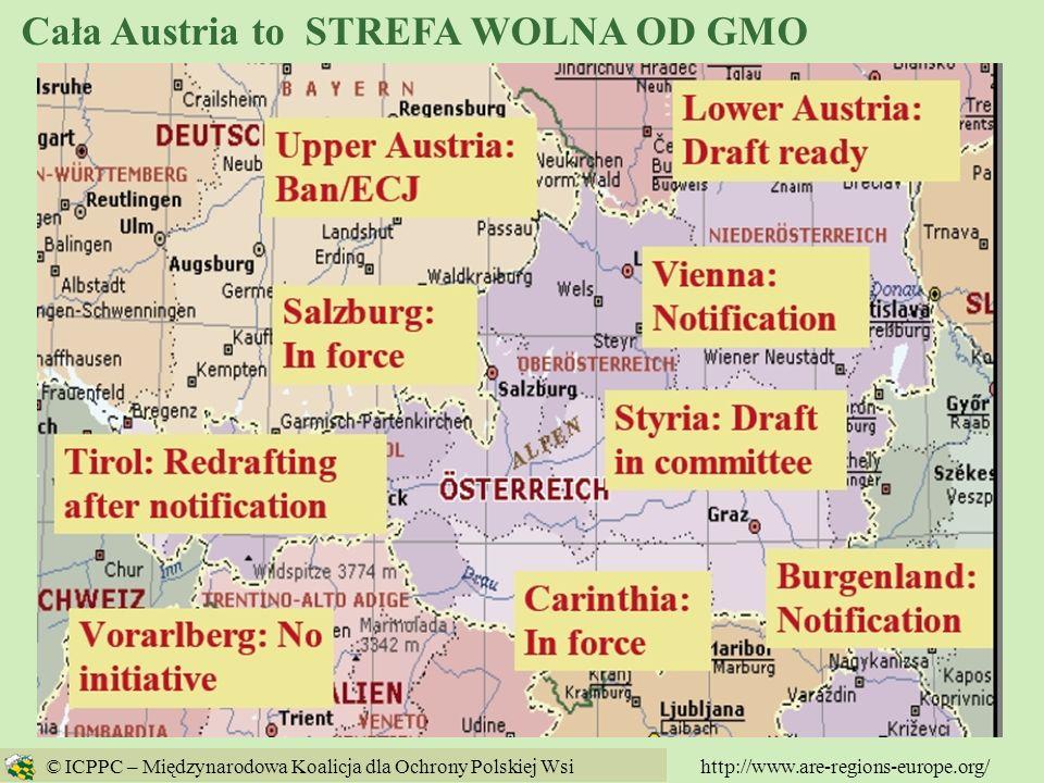 Cała Austria to STREFA WOLNA OD GMO