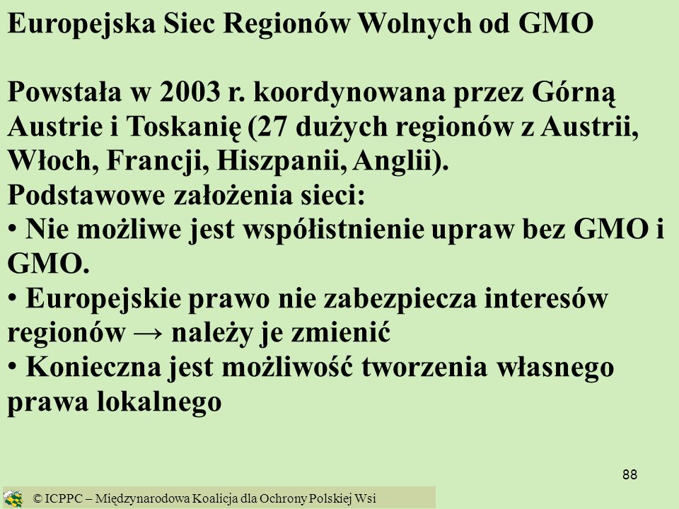 Europejska Siec Regionów Wolnych od GMO