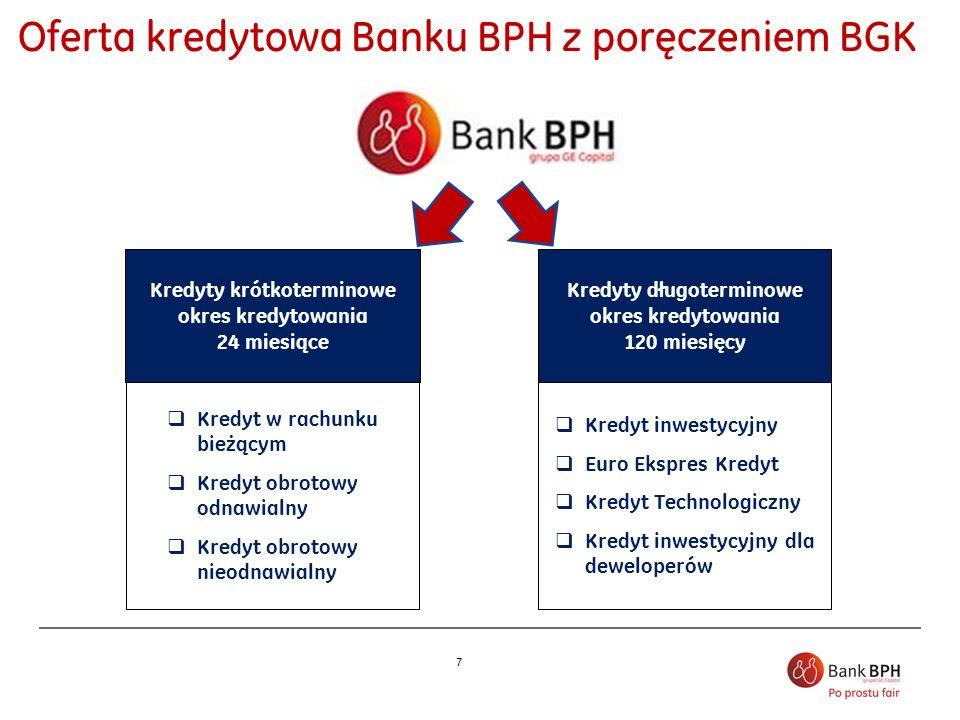 Oferta kredytowa Banku BPH z poręczeniem BGK