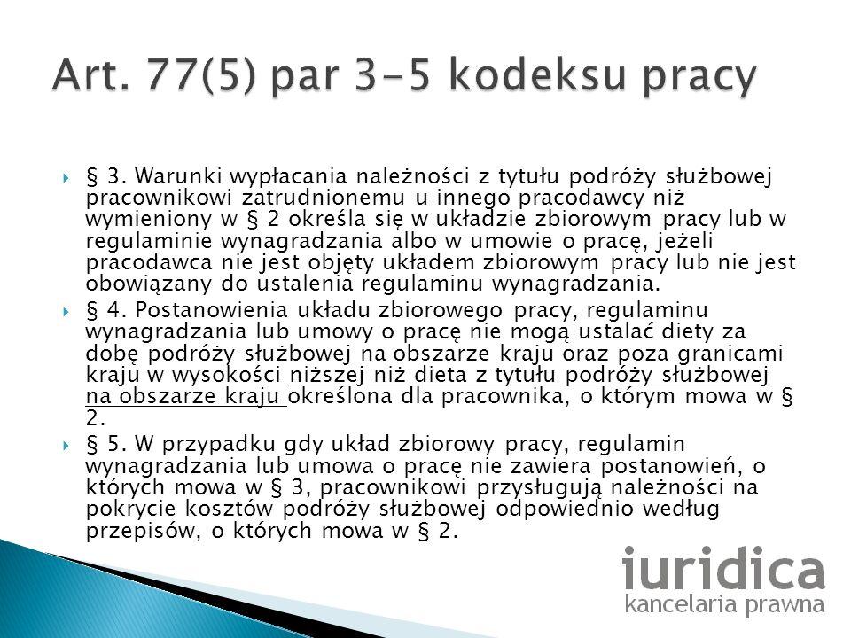 Art. 77(5) par 3-5 kodeksu pracy