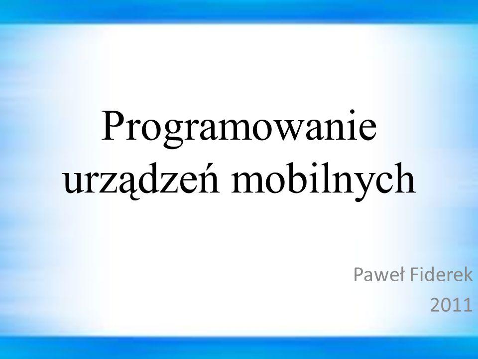 Programowanie urządzeń mobilnych