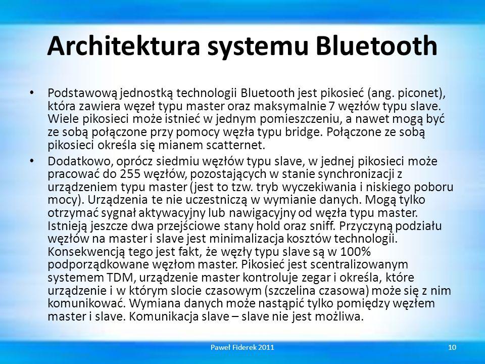 Architektura systemu Bluetooth