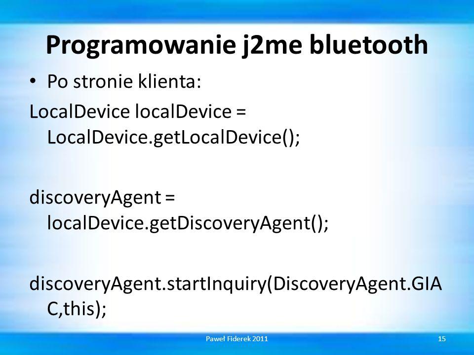 Programowanie j2me bluetooth