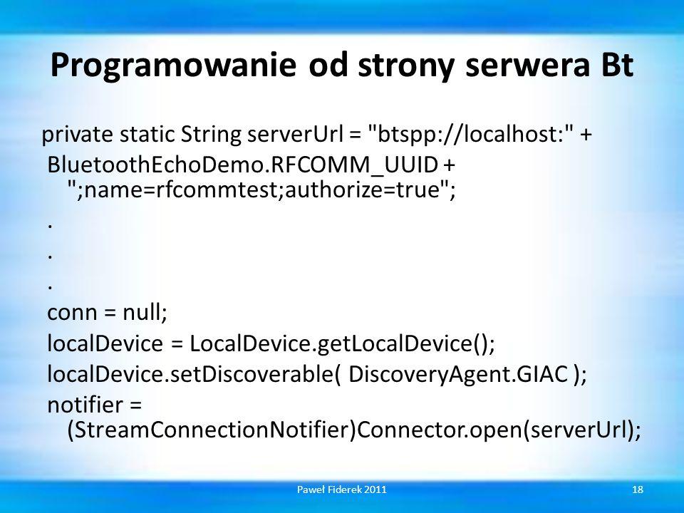 Programowanie od strony serwera Bt
