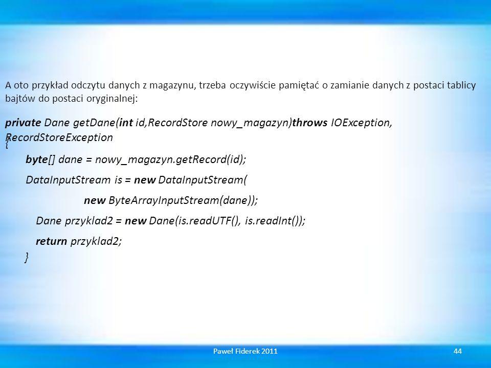 Dane przyklad2 = new Dane(is.readUTF(), is.readInt());
