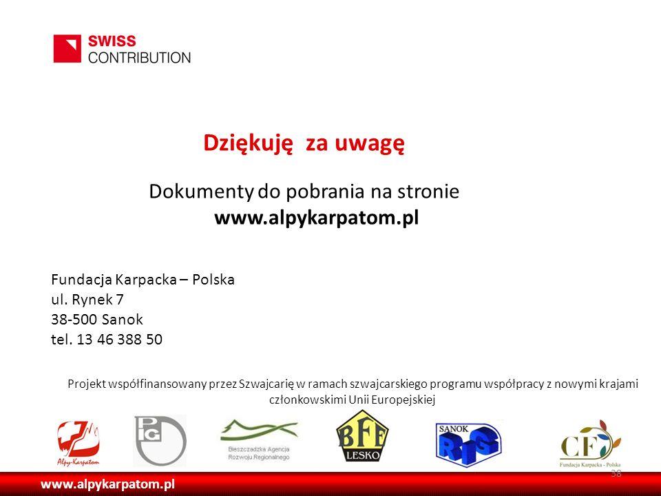 Dokumenty do pobrania na stronie www.alpykarpatom.pl