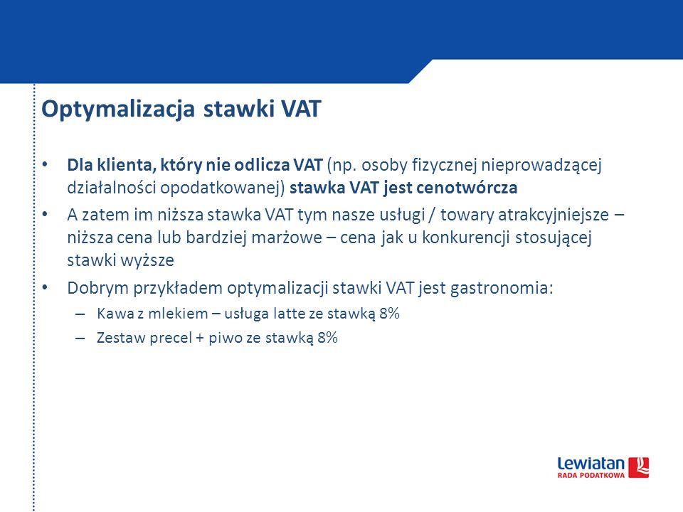 Optymalizacja stawki VAT