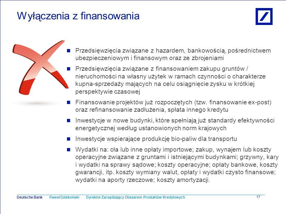 Wyłączenia z finansowania