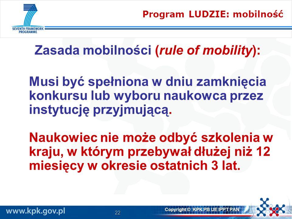 Zasada mobilności (rule of mobility):