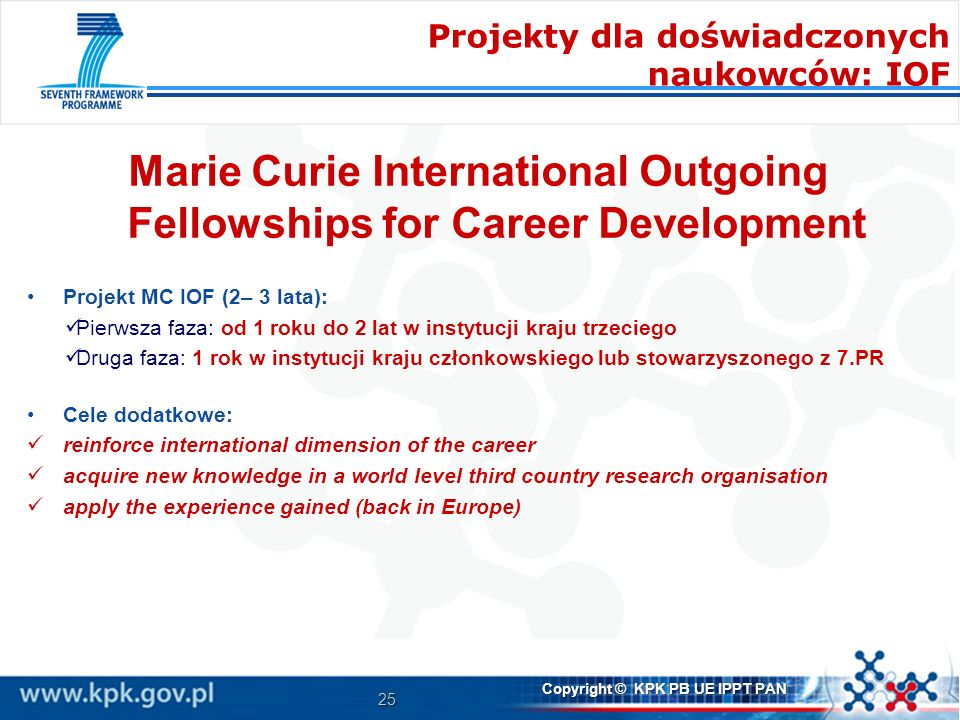 Marie Curie International Outgoing Fellowships for Career Development