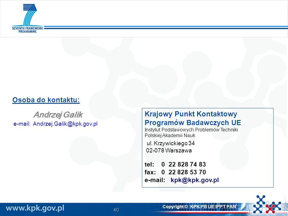 e-mail: Andrzej.Galik@kpk.gov.pl