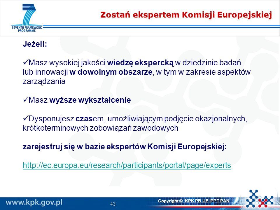 Zostań ekspertem Komisji Europejskiej