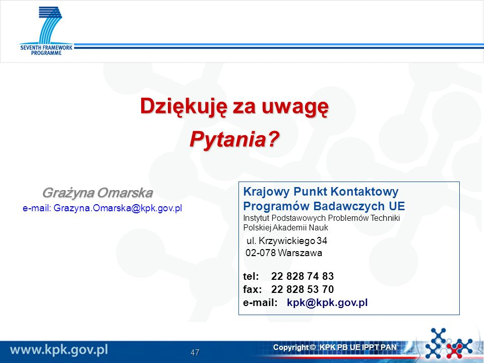 e-mail: Grazyna.Omarska@kpk.gov.pl