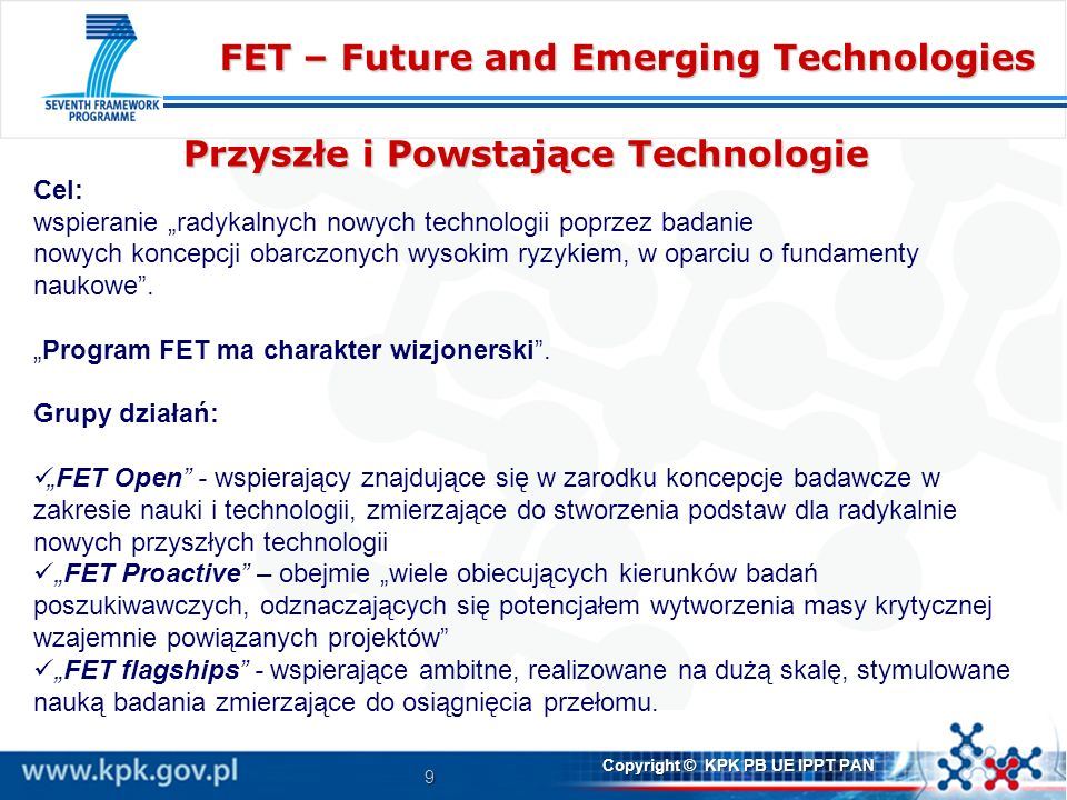 FET – Future and Emerging Technologies