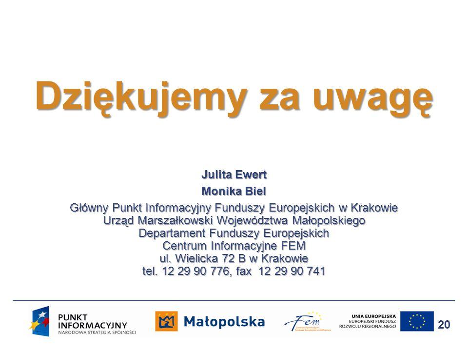 Dziękujemy za uwagę Julita Ewert Monika Biel