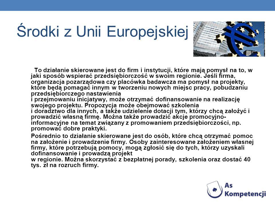 Środki z Unii Europejskiej