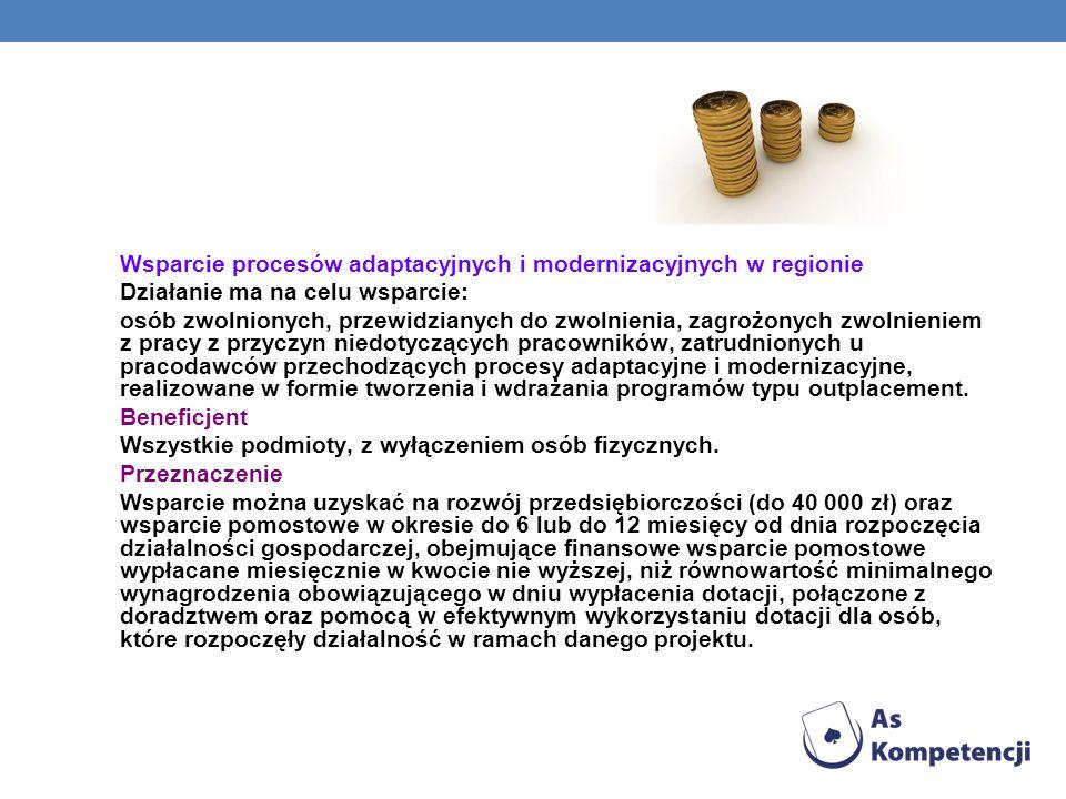 Wsparcie procesów adaptacyjnych i modernizacyjnych w regionie