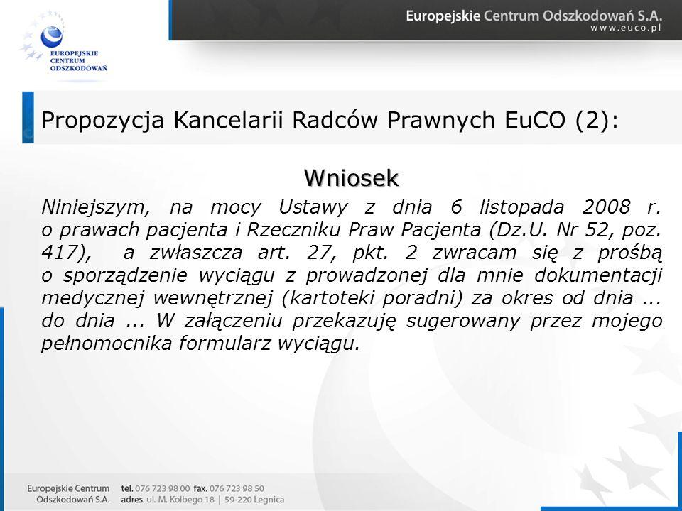 Propozycja Kancelarii Radców Prawnych EuCO (2):