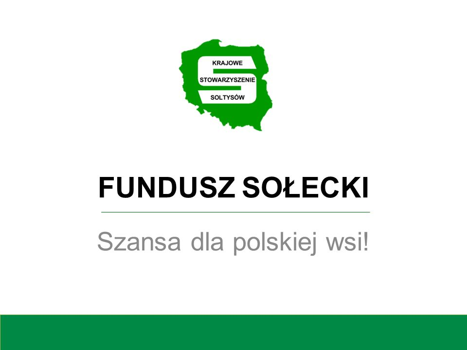 Szansa dla polskiej wsi!