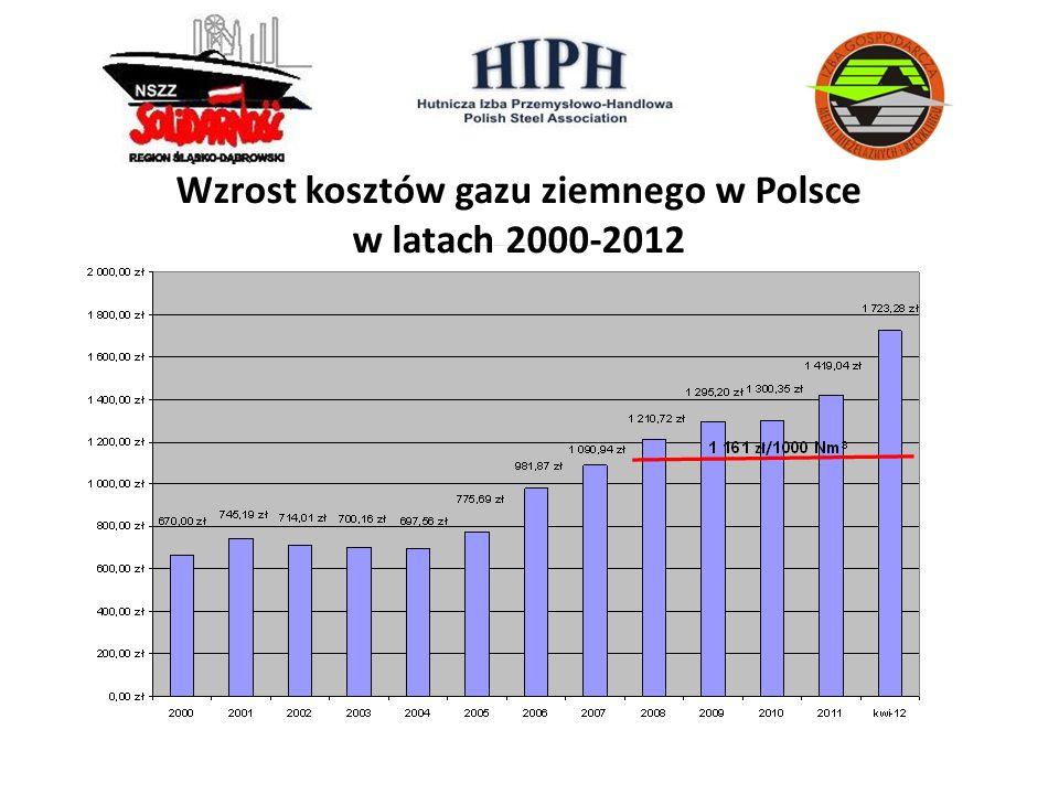 Wzrost kosztów gazu ziemnego w Polsce