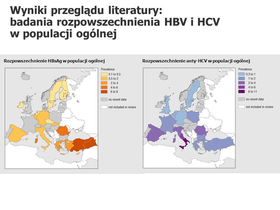 Wyniki przeglądu literatury: badania rozpowszechnienia HBV i HCV w populacji ogólnej