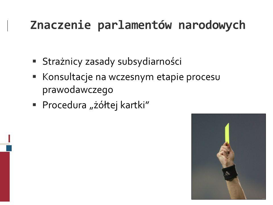 Znaczenie parlamentów narodowych