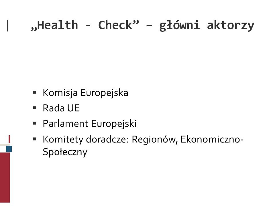 """""""Health - Check – główni aktorzy"""