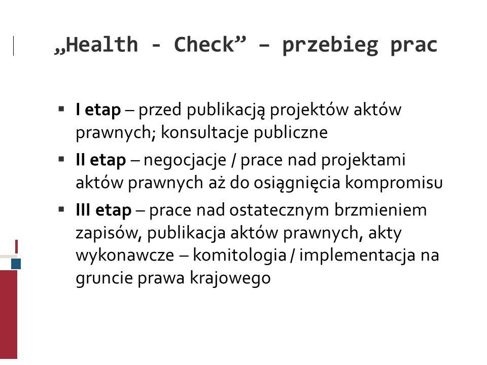 """Health - Check – przebieg prac"
