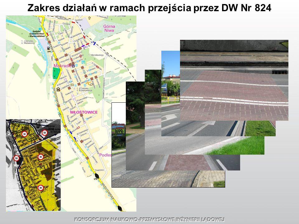 Zakres działań w ramach przejścia przez DW Nr 824