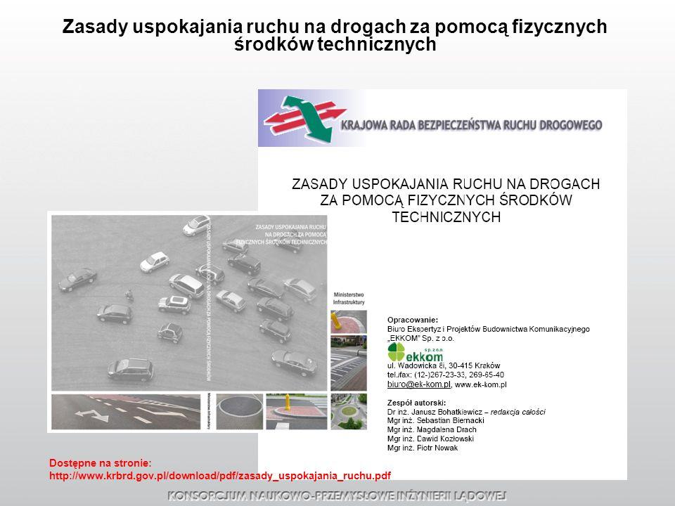 Zasady uspokajania ruchu na drogach za pomocą fizycznych środków technicznych