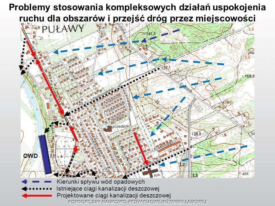 Problemy stosowania kompleksowych działań uspokojenia ruchu dla obszarów i przejść dróg przez miejscowości
