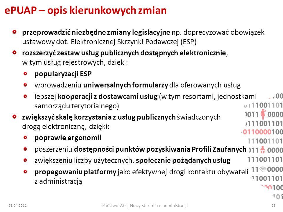 ePUAP – opis kierunkowych zmian