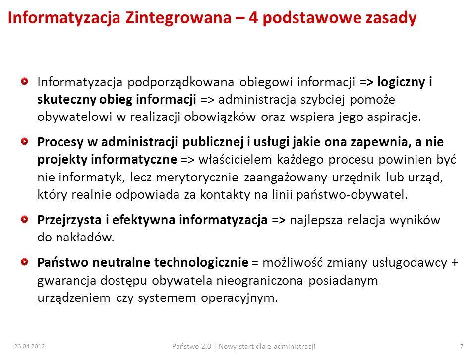 Informatyzacja Zintegrowana – 4 podstawowe zasady