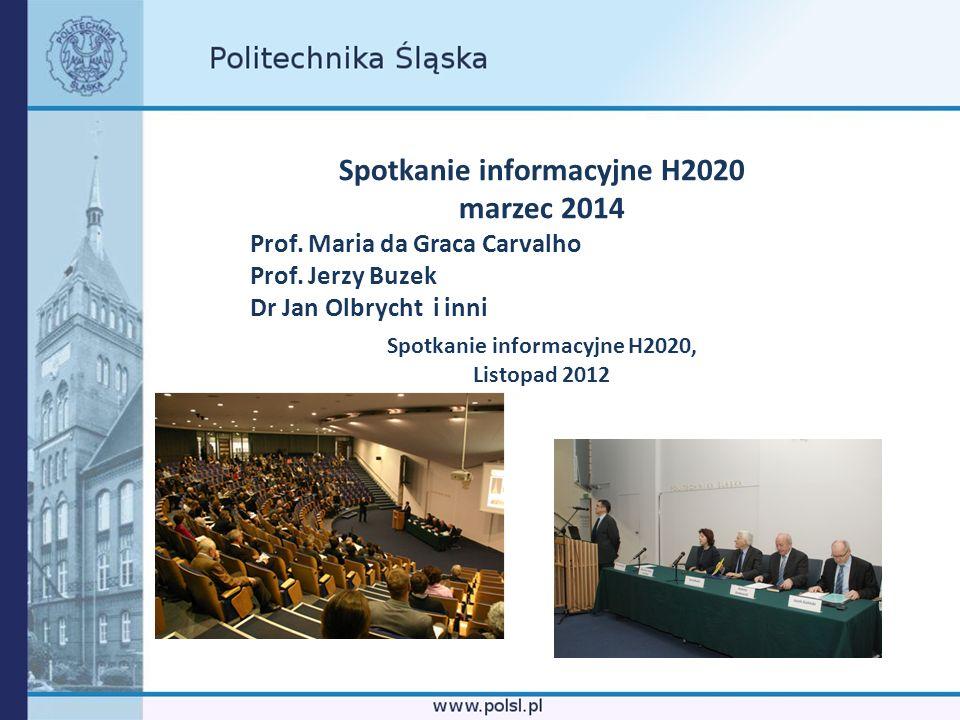 Spotkanie informacyjne H2020 Spotkanie informacyjne H2020,