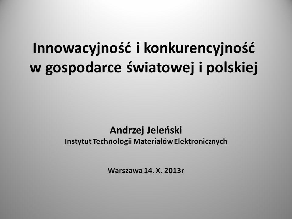Innowacyjność i konkurencyjność w gospodarce światowej i polskiej