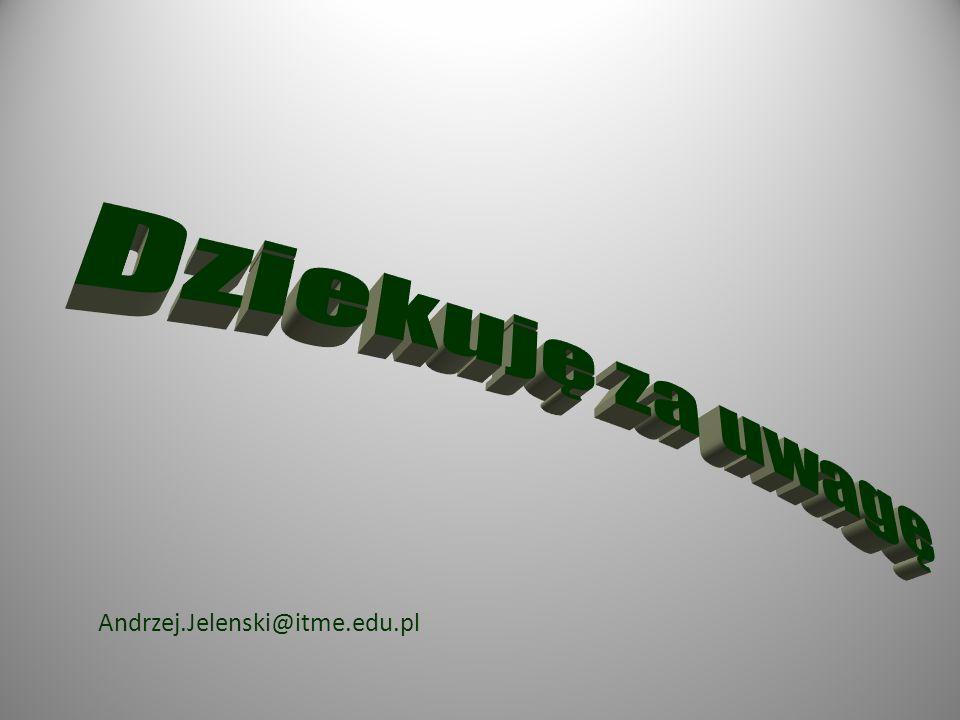 Dziekuję za uwagę Andrzej.Jelenski@itme.edu.pl