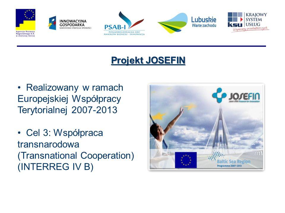 Projekt JOSEFIN Realizowany w ramach Europejskiej Współpracy Terytorialnej 2007-2013.