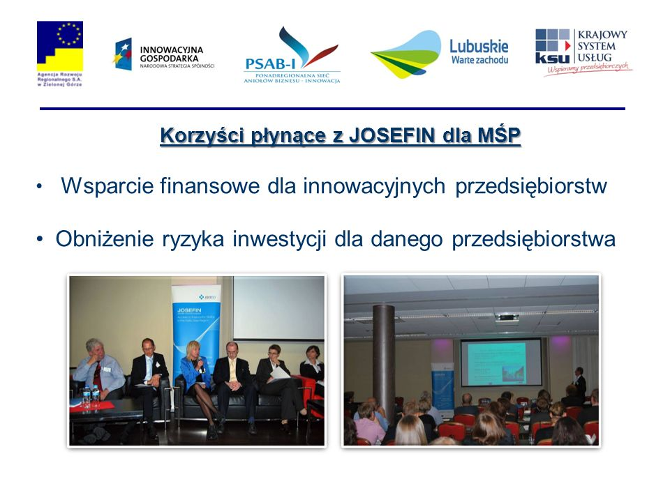 Korzyści płynące z JOSEFIN dla MŚP