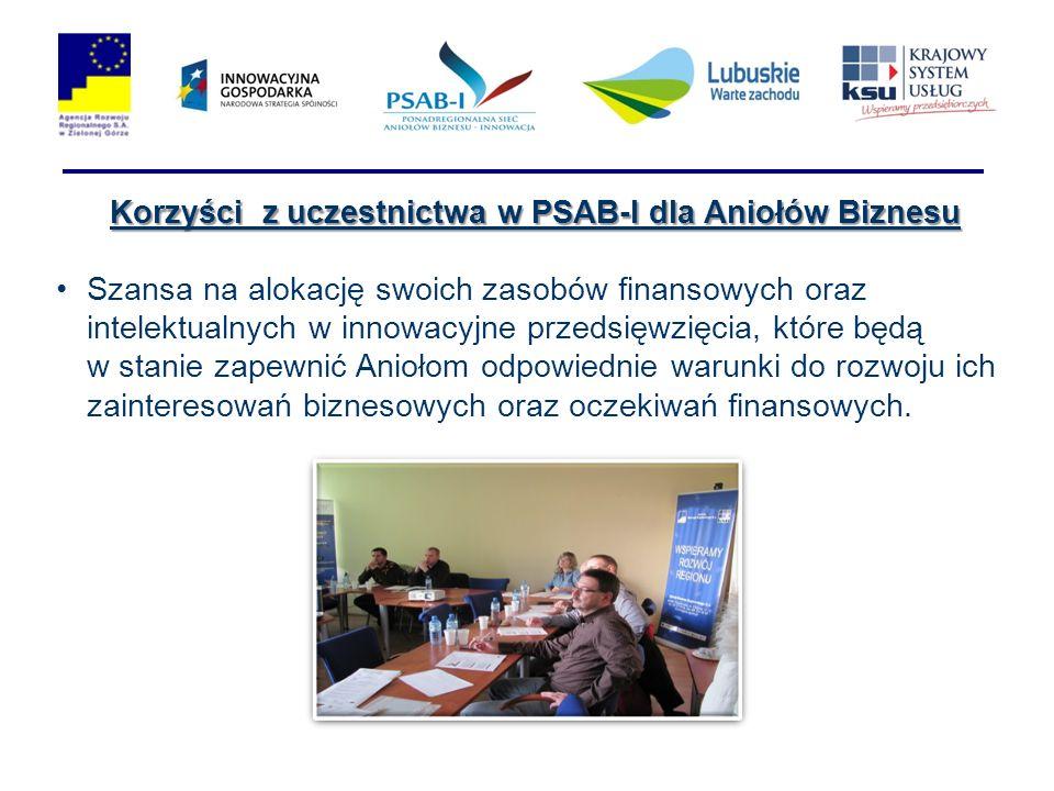 Korzyści z uczestnictwa w PSAB-I dla Aniołów Biznesu