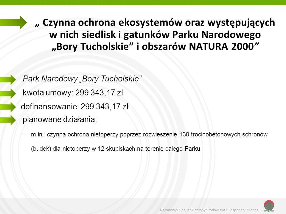 """"""" Czynna ochrona ekosystemów oraz występujących w nich siedlisk i gatunków Parku Narodowego """"Bory Tucholskie i obszarów NATURA 2000"""