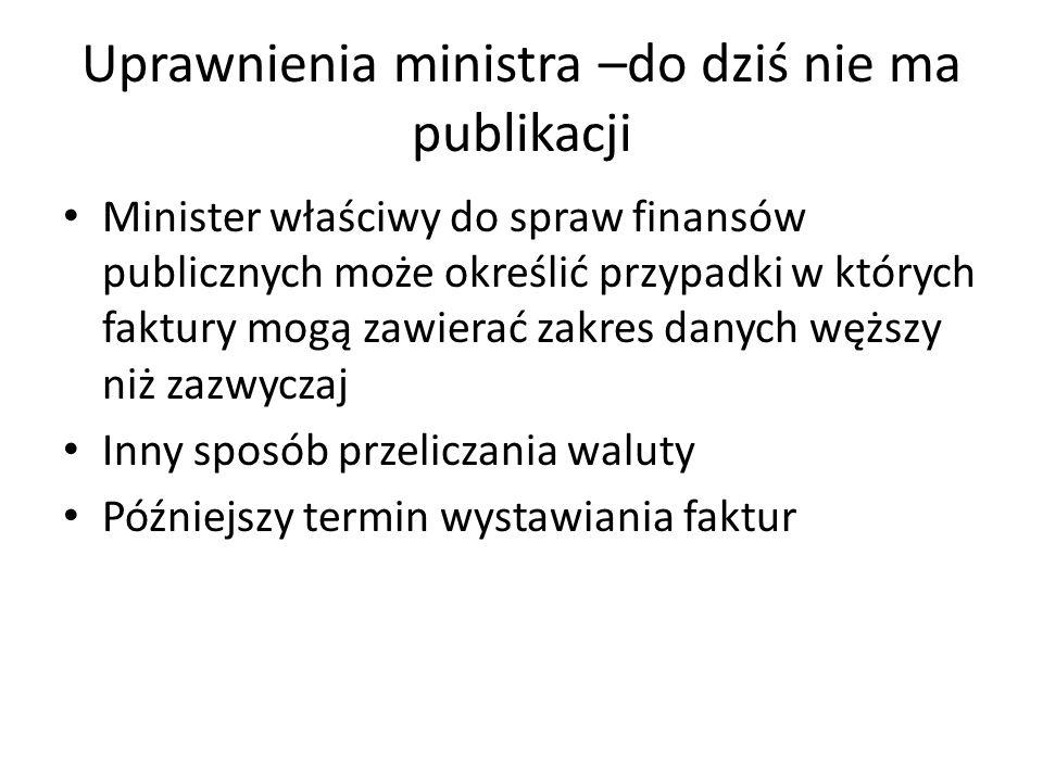 Uprawnienia ministra –do dziś nie ma publikacji