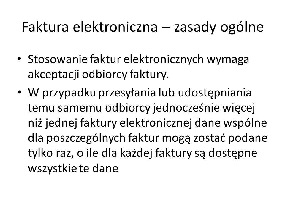 Faktura elektroniczna – zasady ogólne