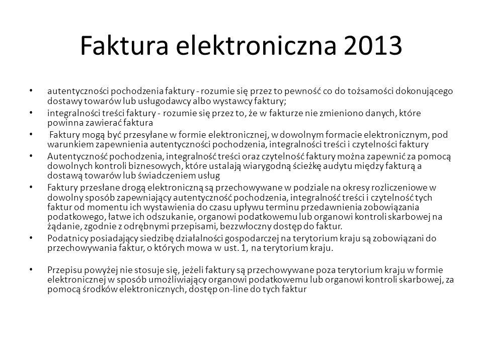 Faktura elektroniczna 2013