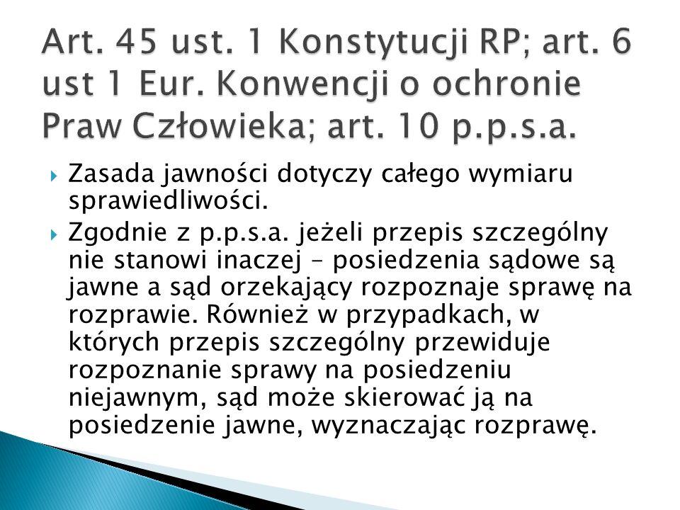 Art. 45 ust. 1 Konstytucji RP; art. 6 ust 1 Eur