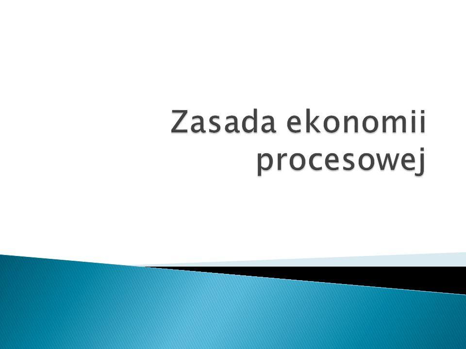Zasada ekonomii procesowej