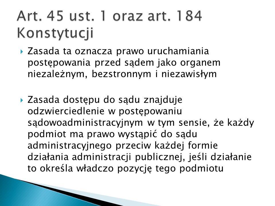 Art. 45 ust. 1 oraz art. 184 Konstytucji