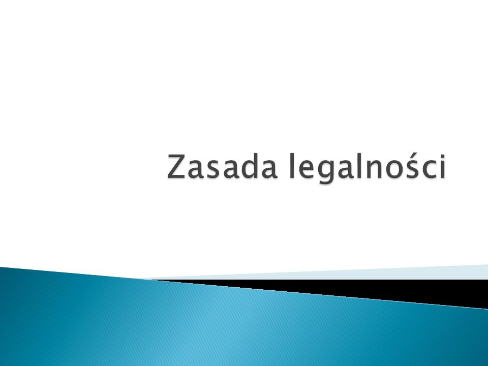 Zasada legalności